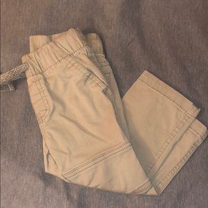Toddler boy tan pants